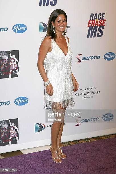 Brooke Burke arrives at the 13th Annual Race to Erase MS Disco Fever at the Hyatt Regency Century Plaza on May 12 2006 in Los Angeles California
