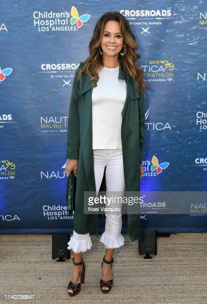 Brooke Burke attends a benefit dinner for the Nautica Malibu Triathlon and Children's Hospital Los Angeles at the Nautica House on April 29 2019 in...