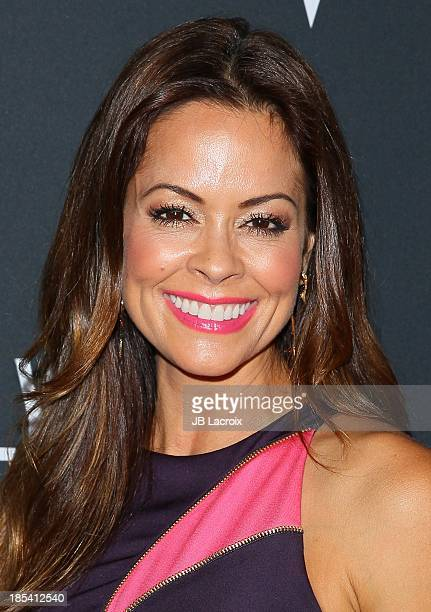 Brooke Burke attends Elyse Walker Presents The Pink Party 2013 hosted by Anne Hathaway at The Barker Hanger on October 19 2013 in Santa Monica...
