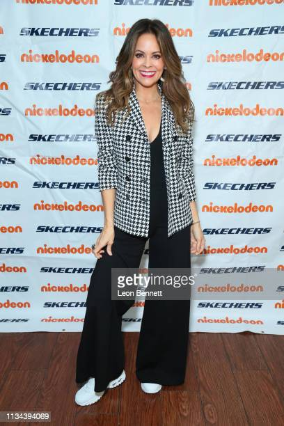 Brooke Burke attends Skechers Foundation 10th Year Celebration Check Presentation at Shade Hotel on March 07 2019 in Manhattan Beach California
