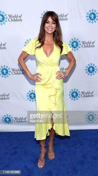Brooke Burke attends the 2019 World of Children Hero Awards Benefit at The London West Hollywood on April 25 2019 in West Hollywood California