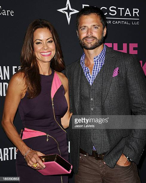 Brooke Burke Charvet and David Charvet attend the 2013 Pink Party at Hangar 8 on October 19 2013 in Santa Monica California