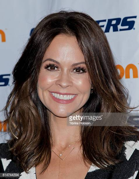 Brooke Burke Charvet attends the 7th annual SKECHERS Pier To Pier Walk Check Presentation at Shade Hotel on March 10 2016 in Manhattan Beach...