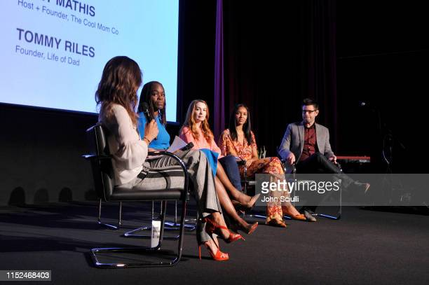 Brooke Burke Dr Alfiee BrelandNoble Felicia Day Lizzy Mathis and Tom Riles speak onstage during SoulPancake's Four Conversations about One Thing at...