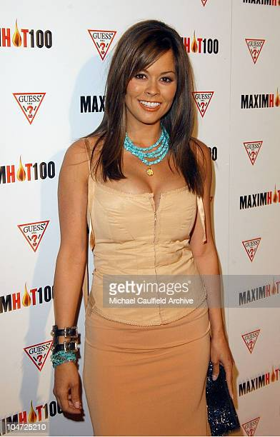 Brooke Burke during Maxim Hot 100 Party Arrivals at Yamashiro in Hollywood California United States