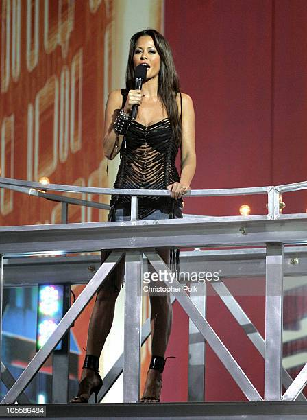 Brooke Burke during Spike TV's 2nd Annual Video Game Awards 2004 Show Hosted by Snoop Dogg at Barker Hangar in Santa Monica California United States