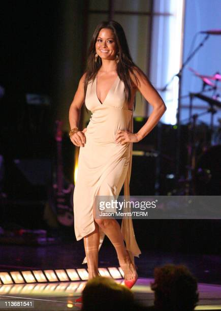 Brooke Burke wearing Tommy Hilfiger during 13th Annual Race to Erase MS Disco Fever to Erase MS Show at Hyatt Regency Century Plaza in Century City...