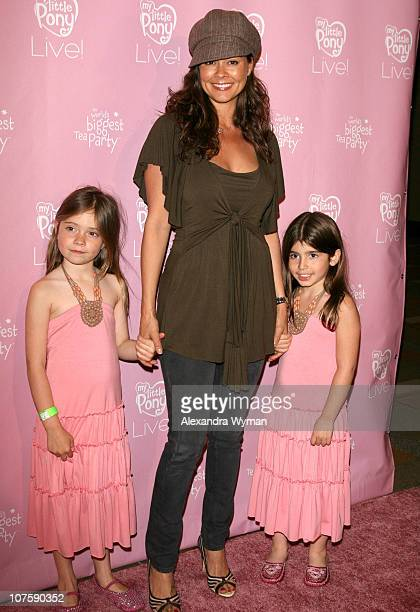 Brooke Burke with her daughters Neriah , and Sierra Sky Fisher