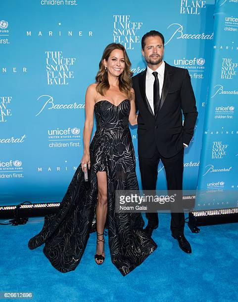 Brooke BurkeCharvet and David Charvet attend the 12th Annual UNICEF Snowflake Ball at Cipriani Wall Street on November 29 2016 in New York City