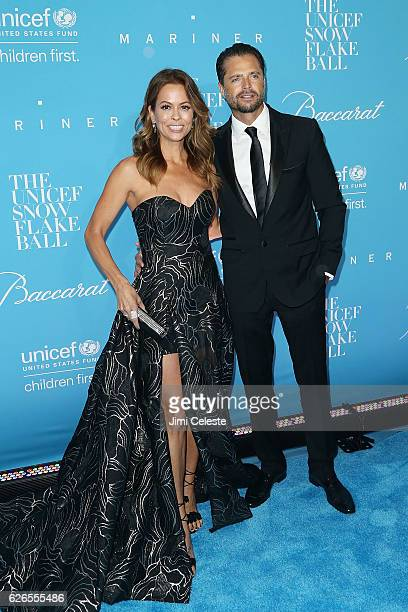 Brooke BurkeCharvet and David Charvet attends the 12th Annual UNICEF Snowflake Ball at Cipriani Wall Street on November 29 2016 in New York City