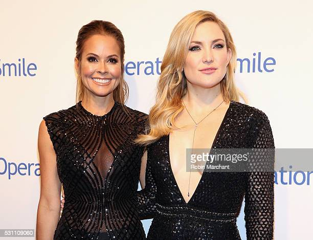 Brooke BurkeCharvet and Kate Hudson attend 2016 Operation Smile Gala at Cipriani 42nd Street on May 12 2016 in New York City