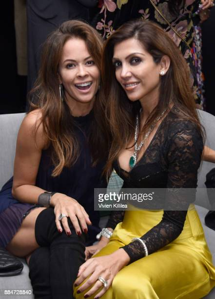 Brooke BurkeCharvet and Priyanka Khanna attend Nude Envie Holiday/Launch Party Launching New Shades on December 2 2017 in Beverly Hills California