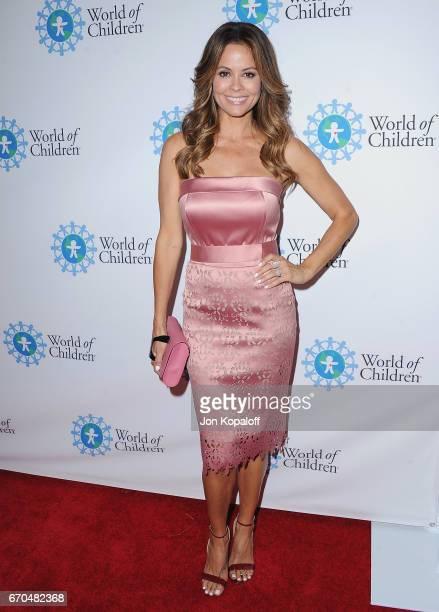 Brooke BurkeCharvet arrives at the 2017 World Of Children Hero Awards at Montage Beverly Hills on April 19 2017 in Beverly Hills California