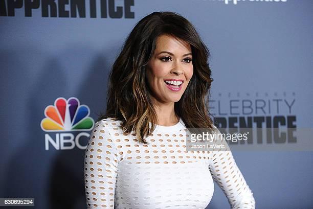 Brooke BurkeCharvet attends the press junket For NBC's Celebrity Apprentice at The Fairmont Miramar Hotel Bungalows on January 28 2016 in Santa...