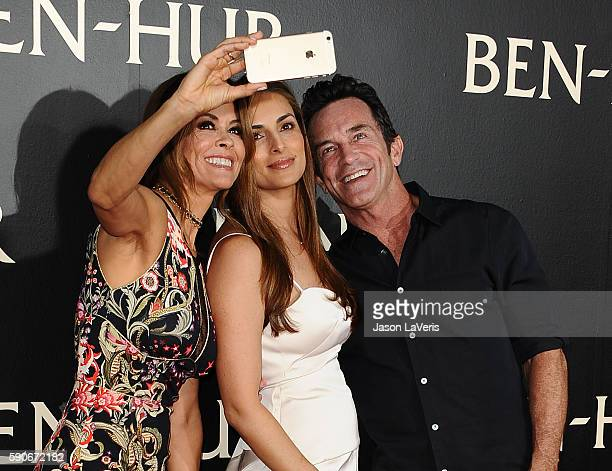 Brooke BurkeCharvet Lisa Ann Russell and Jeff Probst attend the premiere of BenHur at TCL Chinese Theatre IMAX on August 16 2016 in Hollywood...