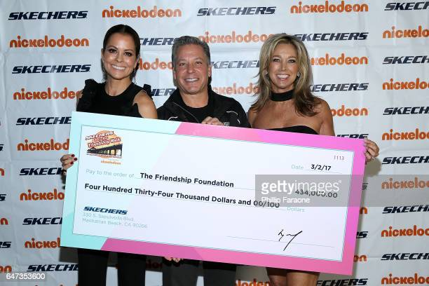 Brooke BurkeCharvet Michael Greenberg and Denise Austin attend the 8th Annual SKECHERS Pier to Pier Friendship Walk Check Presentation at Shade Hotel...