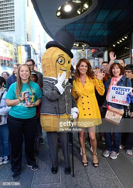 AMERICA Brooke BurkeCharvet wishes Mr Peanut a happy 100th birthday on GOOD MORNING AMERICA 4/20/16 airing on the Walt Disney Television via Getty...