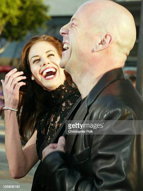 Brooke Burns and Bruce Willis during 'The Whole Ten Yards' World Premiere at Grauman's Chinese Theatre in Hollywood CA United States