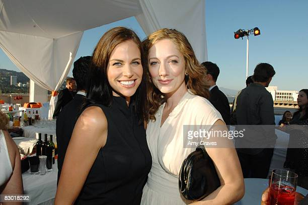 Brooke Burns and Judy Greer attend the Producers and Stars Toast Party Hosted by Dana Walden and Gary Newman on July 18 2007 in Beverly Hills...