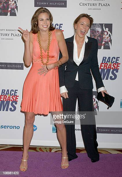 Brooke Burns and Krista Allen during 13th Annual Race to Erase MS Sponsored by Nancy Davis and Tommy Hilfiger Arrivals at Hyatt Regency Century Plaza...