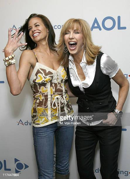 Brooke Burns and Leeza Gibbons during Celebrities Unveil AOL's Entertainment Programming Slate for 2007-2008 - April 17, 2007 at Time Warner Center -...