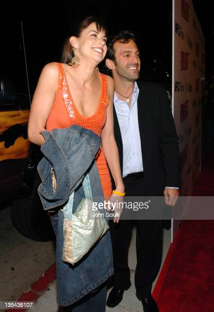 """Brooke Burns and Scott Waugh, producer during """"Dust to Glory"""" Los Angeles Premiere - Red Carpet at Arclight Theatre in Hollywood, California, United..."""