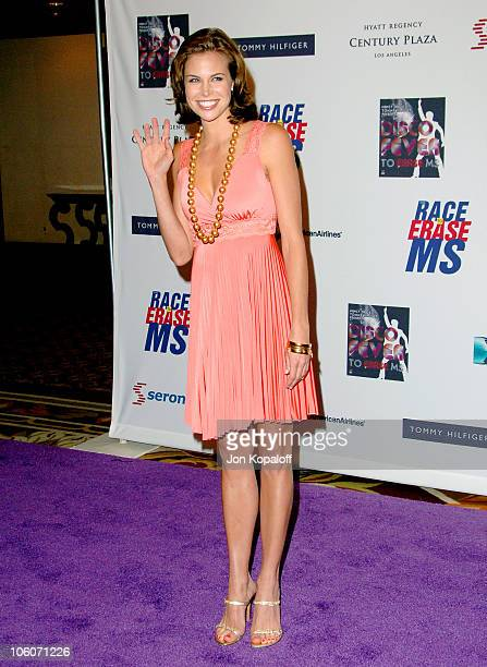Brooke Burns during 13th Annual Race to Erase MS Disco Fever to Erase MS Arrivals at Hyatt Regency Century Plaza in Century City California United...