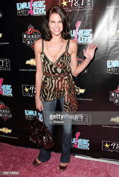 Brooke Burns during 98.7 FM Lounge 4 Life Benefit Concert - Arrivals at House of Blues in Hollywood, California, United States.