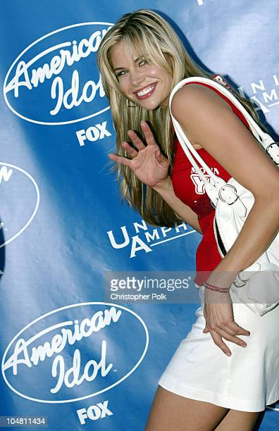 Brooke Burns during American Idol 2 Finals Arrivals at Universal Amphitheatre in Universal City CA United States
