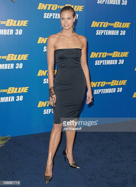 """Brooke Burns during """"Into the Blue"""" Los Angeles Premiere - Arrivals at Mann Village Theatre in Westwood, California, United States."""