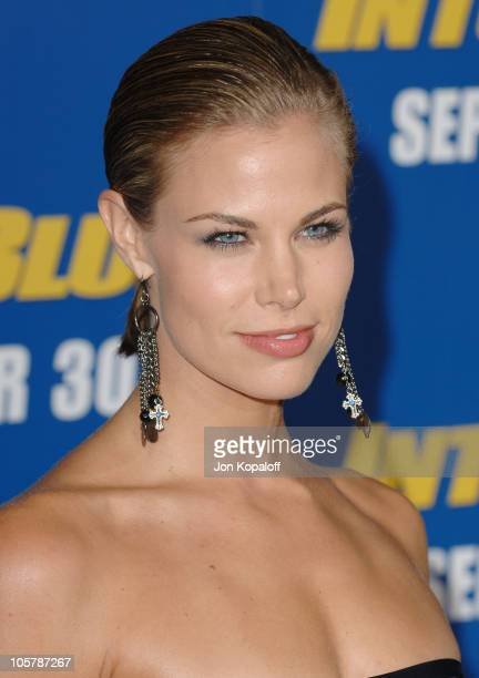 Brooke Burns during Into the Blue Los Angeles Premiere Arrivals at Mann Village Theatre in Westwood California United States