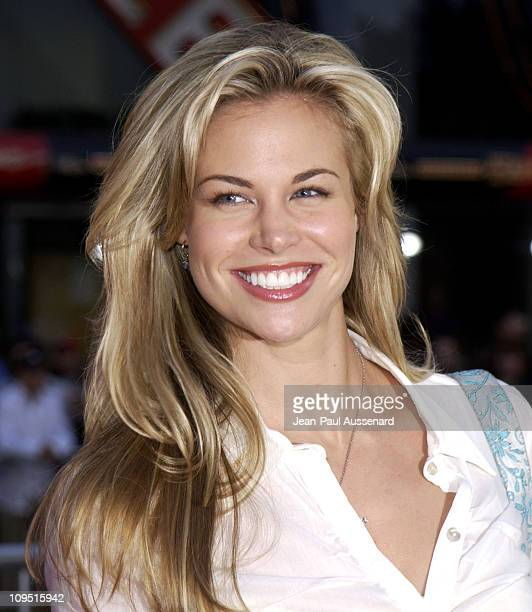 Brooke Burns during Kangaroo Jack Premiere Los Angeles at Chinese Theatre in Hollywood California United States
