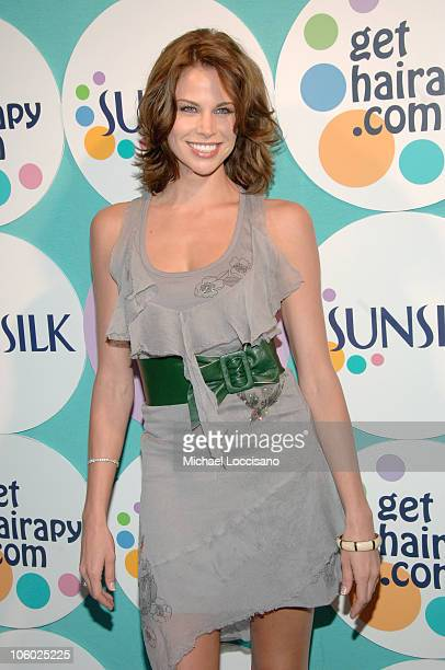 """Brooke Burns during The Sunsilk Hairapy """"Coming Out"""" Launch Party at The Plumm in New York City, New York, United States."""
