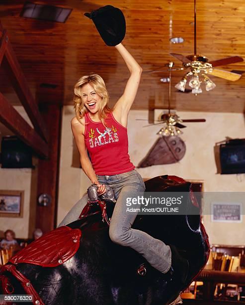 Brooke Burns Riding Mechanical Bull