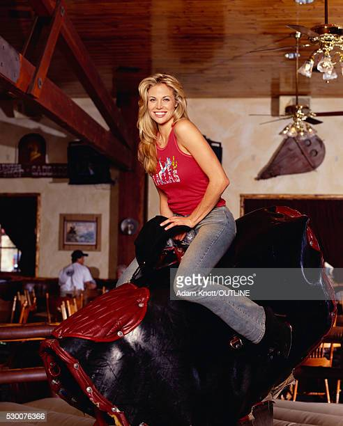 Brooke Burns Riding Mechanical Bull