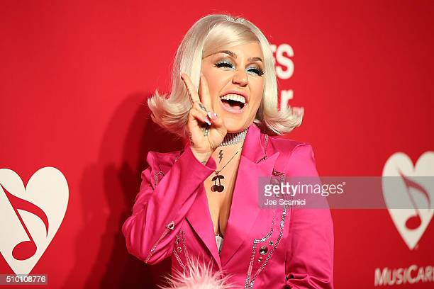 Brooke Candy arrives at the 2016 MusiCares Person of The Year at Los Angeles Convention Center on February 13 2016 in Los Angeles California
