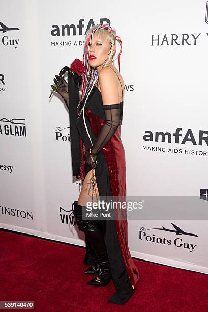 Brooke Candy attends the 7th Annual amfAR Inspiration Gala New York at Skylight at Moynihan Station on June 9 2016 in New York City