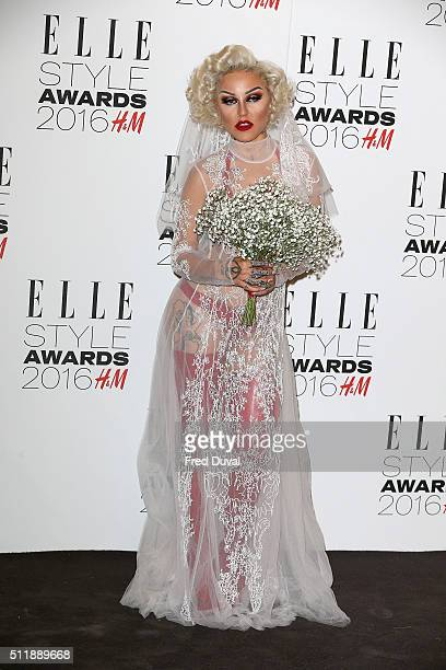 Brooke Candy attends the Elle Style awards 2016 on February 23 2016 in London England