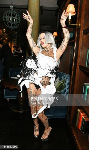 Brooke Candy attends the Rolling Stone UK launch at Rosewood London on September 29, 2021 in London, England.