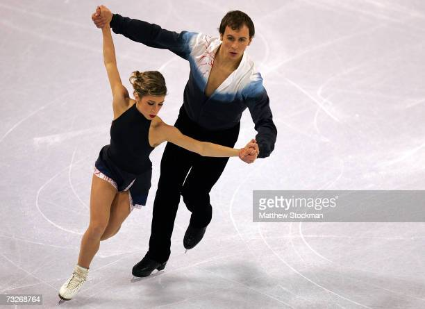 Brooke Castile and Benjamin Okolski compete in free skate portion of the pairs competition during the ISU Four Continents Figure Skating...