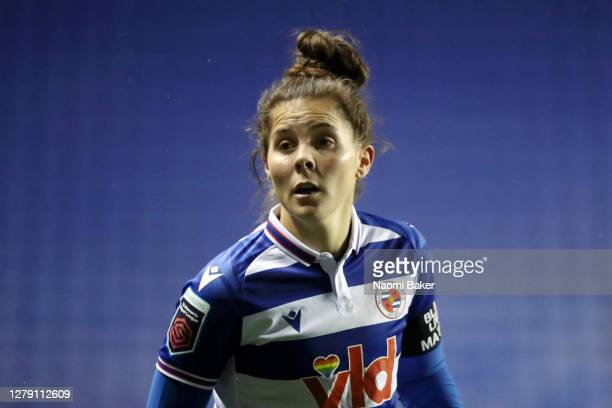 Brooke Chaplen of Reading FC Women looks on during the FA Women's Continental League Cup match between Reading and Charlton Athletic at Madejski...