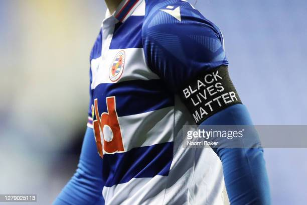 Brooke Chaplen of Reading FC Women wears an armband that shows support for the 'Black Lives Matter' movement during the FA Women's Continental League...