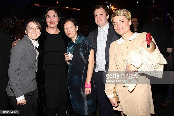 Brooke Cheyney Beth Turk Esme Watanabe Devin Costello and Claire Henry attend the Rituals Of Rented Island Halloween party and preview at The Whitney...