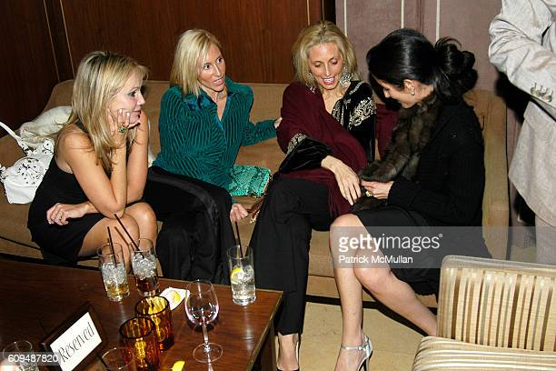 Brooke Davenport Alexandra von Furstenberg Pia Getty and Amanda Ross attend VALENTINO Private Dinner at Sunset Towers on January 12 2007