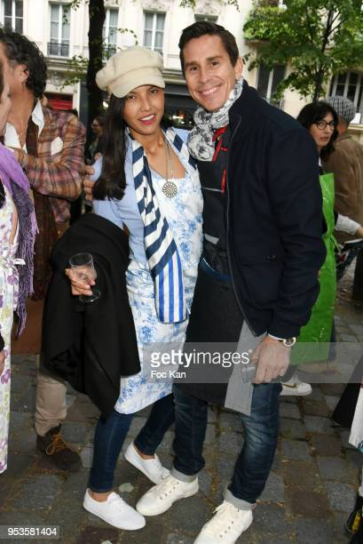 Brooke Dean and Francois Magnen attend Zelia Van Den Bulke Aprons show At Zelia Abbesses Shop on May 1, 2018 in Paris, France.