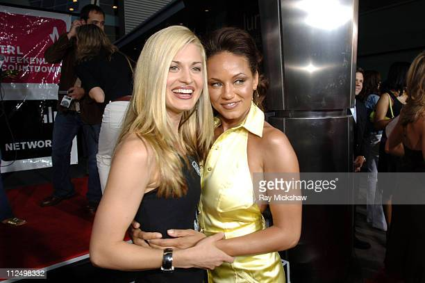 Brooke D'Orsay and Leila Arcieri during King's Ransom Los Angeles Premiere Red Carpet at ArcLight Cinerama Dome in Los Angeles California United...
