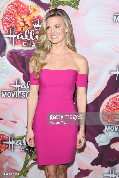 Brooke D'Orsay arrives to the Hallmark Channel and Hallmark Movies and Mysteries Winter 2018 TCA Press Tour held at Tournament House on January 13...
