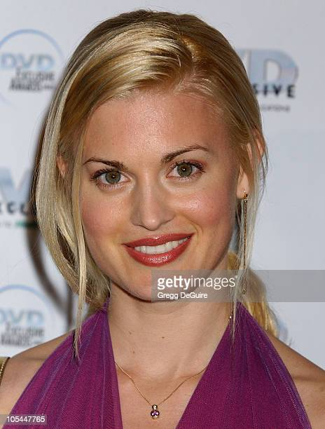 Brooke D'Orsay during 2005 DVD Exclusive Awards Arrivals at California Science Center in Los Angeles California United States