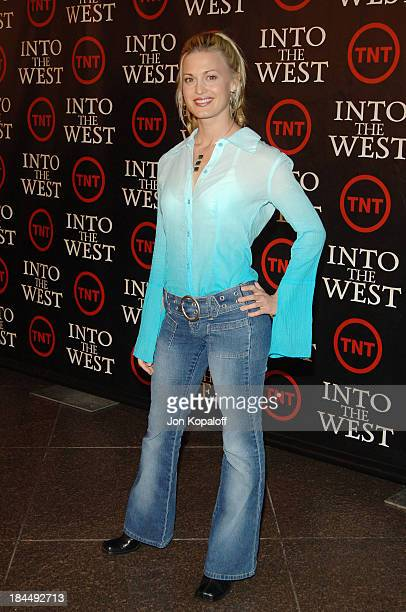 Brooke D'Orsay during Into the West TNT Network Los Angeles Premiere Arrivals at Directors Guild of America in Hollywood California United States