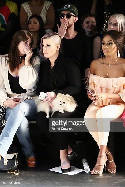 Brooke Dulien Kelly Osbourne and Bonang Matheba attend the John Paul Ataker fashion show during New York Fashion Week The Shows at The Dock Skylight...